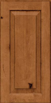 Square Raised Panel - Solid (DAB) Rustic Birch in Toffee - Wall