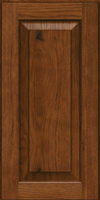 Square Raised Panel - Solid (DAH) Rustic Hickory in Cognac - Wall
