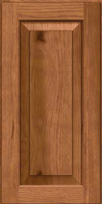 Square Raised Panel - Solid (DAH) Rustic Hickory in Ginger w/Sable Glaze - Wall