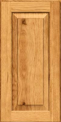 Square Raised Panel - Solid (DAH) Rustic Hickory in Honey Spice - Wall