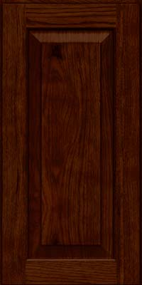 Square Raised Panel - Solid (DAH) Rustic Hickory in Kaffe - Wall