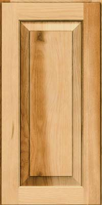 Square Raised Panel - Solid (DAH) Rustic Hickory in Natural - Wall