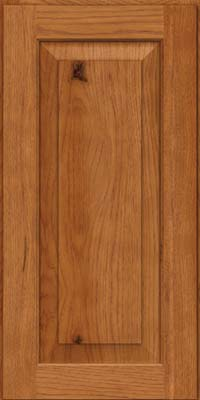 Square Raised Panel - Solid (DAH) Rustic Hickory in Praline - Wall