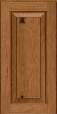 Square Raised Panel - Solid (DAH) Rustic Hickory in Rye - Wall