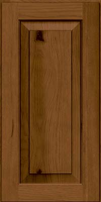 Square Raised Panel - Solid (DAH) Rustic Hickory in Rye w/Sable Glaze - Wall