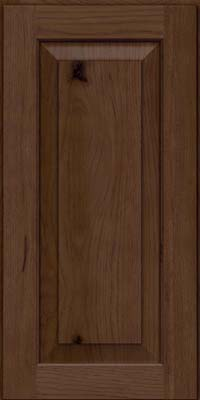 Square Raised Panel - Solid (DAH) Rustic Hickory in Saddle Suede - Wall