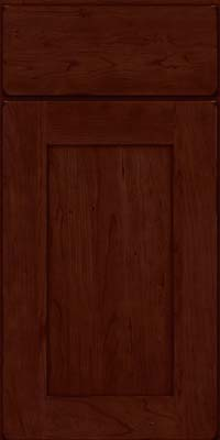 Square Recessed Panel - Solid (DRHC) Cherry in Burnished Cabernet - Base