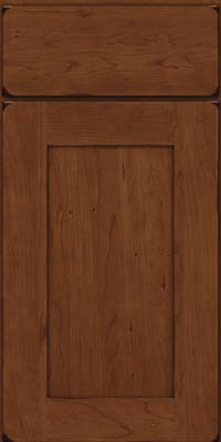 Square Recessed Panel - Solid (DRHC) Cherry in Burnished Chocolate - Base