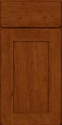 Square Recessed Panel - Solid (DRHC) Cherry in Burnished Cinnamon - Base