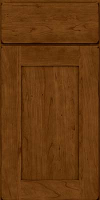 Square Recessed Panel - Solid (DRHC) Cherry in Burnished Ginger - Base