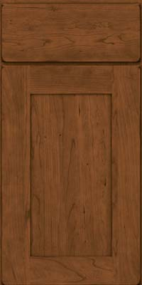 Square Recessed Panel - Solid (DRHC) Cherry in Burnished Rye - Base