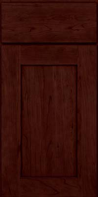 Square Recessed Panel - Solid (DRHC) Cherry in Cabernet - Base