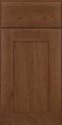 Square Recessed Panel - Solid (DRHC1) Cherry in Hazel - Base