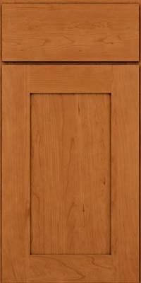 Square Recessed Panel - Solid (DRHC) Cherry in Honey Spice - Base
