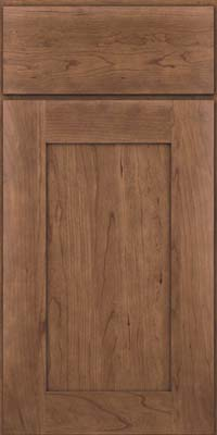 Square Recessed Panel - Solid (DRHC) Cherry in Husk - Base