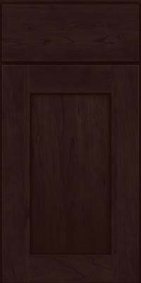 Square Recessed Panel - Solid (DRHC) Cherry in Peppercorn - Base