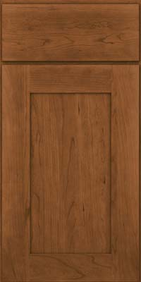 Square Recessed Panel - Solid (DRHC) Cherry in Rye - Base