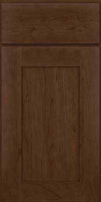 Square Recessed Panel - Solid (DRHC) Cherry in Saddle Suede - Base