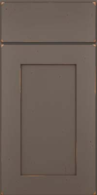 Square Recessed Panel - Solid (DRHC) Cherry in Vintage Greyloft w/ Sable Patina - Base