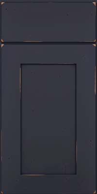 Square Recessed Panel - Solid (DRHC) Cherry in Vintage Midnight w/ Onyx Patina - Base
