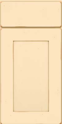 Square Recessed Panel - Solid (DRHC) Cherry in Vintage Biscotti - Base