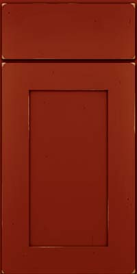 Square Recessed Panel - Solid (DRHC) Cherry in Vintage Cardinal - Base