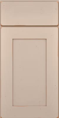 Square Recessed Panel - Solid (DRHC1) Cherry in Vintage Chai - Base