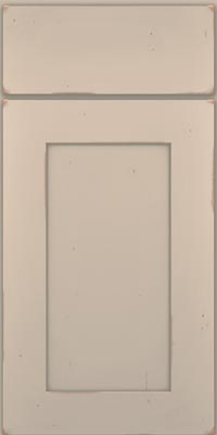 Square Recessed Panel - Solid (DRHC1) Cherry in Vintage Chai w/Cinder Patina - Base