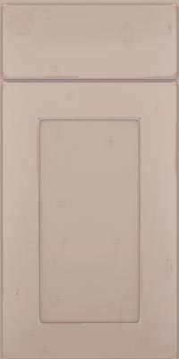 Square Recessed Panel - Solid (DRHC1) Cherry in Vintage Chai w/Coconut Patina - Base
