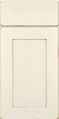 Square Recessed Panel - Solid (DRHC) Cherry in Vintage Dove White w/Cocoa Patina - Base