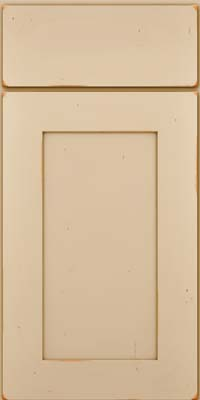 Square Recessed Panel - Solid (DRHC) Cherry in Vintage Mushroom - Base