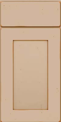 Square Recessed Panel - Solid (DRHC) Cherry in Vintage Mushroom w/Cocoa Patina - Base
