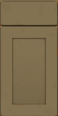 Square Recessed Panel - Solid (DRHC) Cherry in Vintage Sage - Base