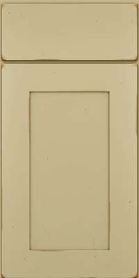 Square Recessed Panel - Solid (DRHC) Cherry in Vintage Willow - Base