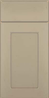Square Recessed Panel - Solid (DRHC) Cherry in Vintage Willow w/ Cinder Patina - Base