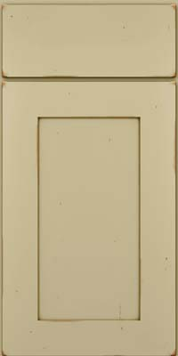 Square Recessed Panel - Solid (DRHC) Cherry in Vintage Willow w/Cocoa Patina - Base
