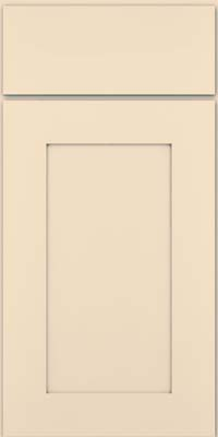 Square Recessed Panel - Solid (DRHM) Maple in Biscotti w/ Cinder Glaze - Base