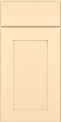 Square Recessed Panel - Solid (DRHM) Maple in Biscotti w/Coconut Glaze - Base