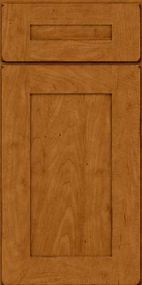 Square Recessed Panel - Solid (DRHM) Maple in Burnished Golden Lager - Base