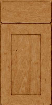 Square Recessed Panel - Solid (DRHM) Maple in Burnished Ginger - Base