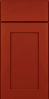 Square Recessed Panel - Solid (DRHM) Maple in Cardinal - Base