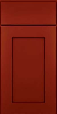 Square Recessed Panel - Solid (DRHM) Maple in Cardinal w/Onyx Glaze - Base