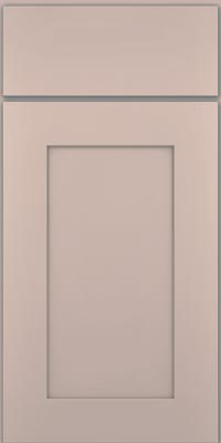 Square Recessed Panel - Solid (DRHM1) Maple in Chai w/Cinder Glaze - Base