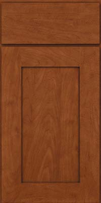 Square Recessed Panel - Solid (DRHM) Maple in Chestnut - Base