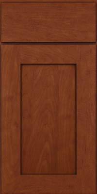 Square Recessed Panel - Solid (DRHM) Maple in Chestnut w/Onyx Glaze - Base
