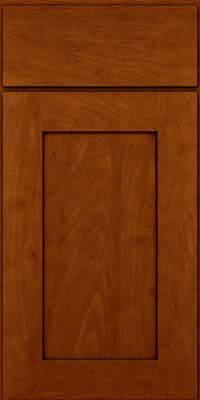 Square Recessed Panel - Solid (DRHM) Maple in Cinnamon w/Onyx Glaze - Base