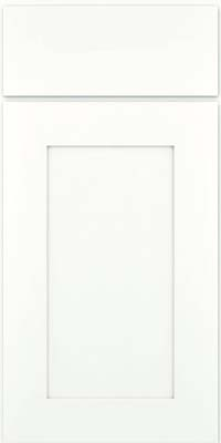 Square Recessed Panel - Solid (DRHM) Maple in Dove White w/ Cinder Glaze - Base