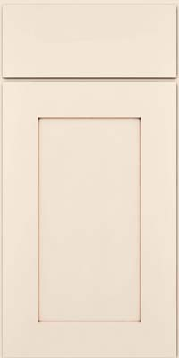 Square Recessed Panel - Solid (DRHM) Maple in Dove White w/Cocoa Glaze - Base
