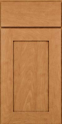 Square Recessed Panel - Solid (DRHM) Maple in Ginger w/Sable Glaze - Base