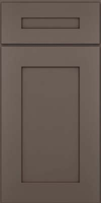 Square Recessed Panel - Solid (DRHM) Maple in Greyloft w/ Sable Glaze - Base